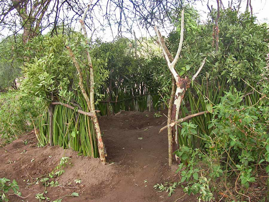 Community designed and built latrine