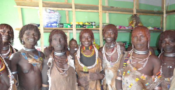 The Minogelti Women's Cooperative leadership